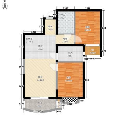 东方渔人码头2室0厅1卫1厨92.00㎡户型图