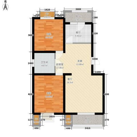 东华锦绣家园2室1厅1卫0厨98.00㎡户型图