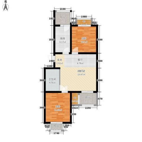 东华锦绣家园2室0厅1卫1厨93.00㎡户型图