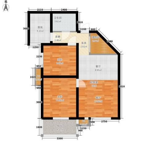 美丽的院子2室0厅1卫1厨93.00㎡户型图