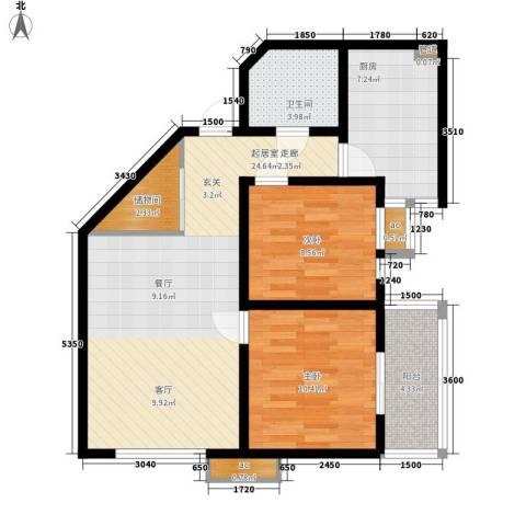 美丽的院子2室0厅1卫1厨97.00㎡户型图