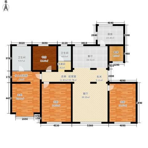 中海八里臺4室0厅2卫1厨196.00㎡户型图