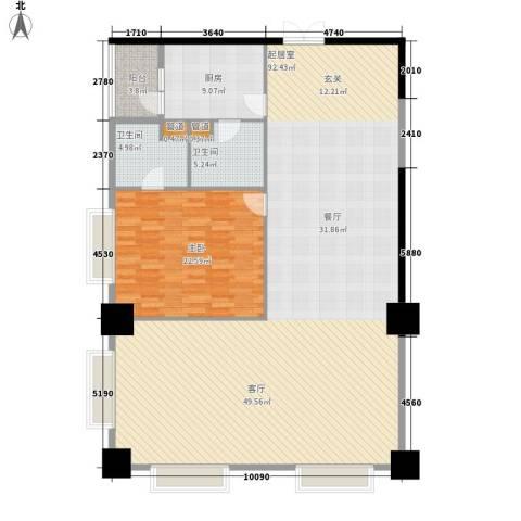 紫薇田园都市配套公寓1室0厅2卫1厨153.00㎡户型图