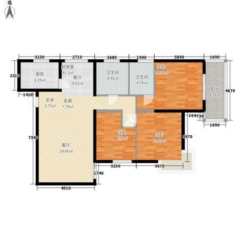 春晓馨苑3室0厅2卫1厨119.00㎡户型图