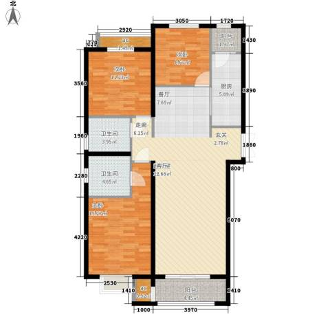 新天地鹭港3室0厅2卫1厨138.00㎡户型图