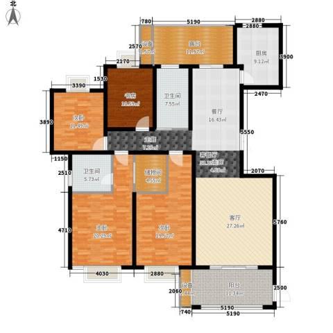 蓝城百合花园4室1厅2卫1厨190.00㎡户型图