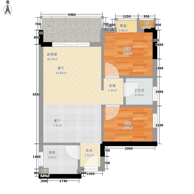 龙归城55.00㎡公共租赁房户型