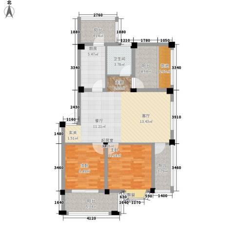 志城江山郡2室0厅1卫1厨91.32㎡户型图