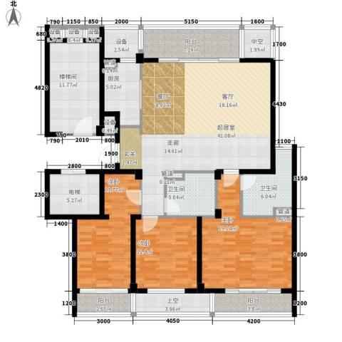 新城区法院家属院3室0厅2卫1厨207.00㎡户型图