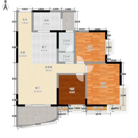 同创米兰天空3室0厅2卫1厨94.00㎡户型图