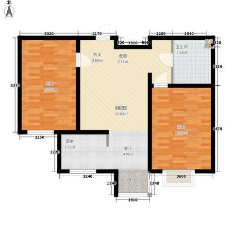 山水宜居2室0厅1卫0厨81.00㎡户型图