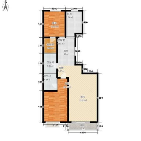 山水宜居2室0厅2卫1厨115.00㎡户型图