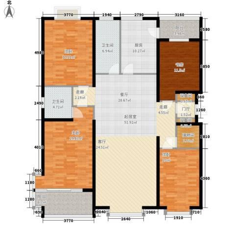金水豪庭4室0厅2卫1厨172.00㎡户型图