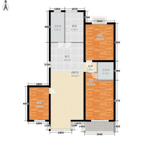 金水豪庭3室0厅2卫1厨138.00㎡户型图