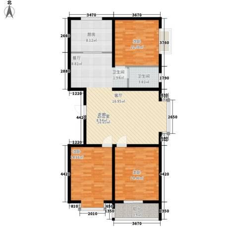 金水豪庭3室0厅1卫1厨107.00㎡户型图