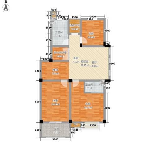 红叶枫情水岸3室0厅2卫0厨102.02㎡户型图