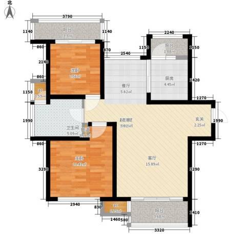 新沧商贸城公寓2室0厅1卫1厨68.40㎡户型图