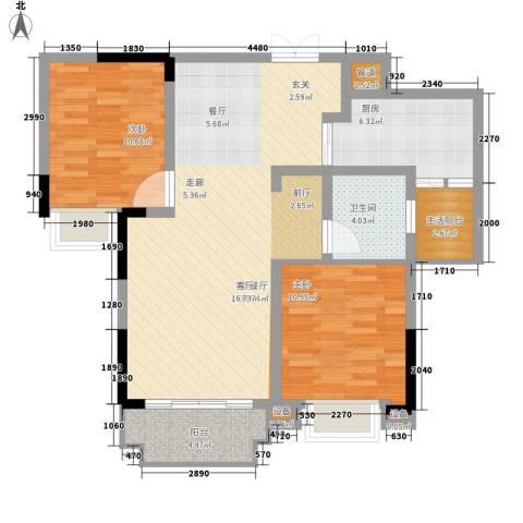 丰泰城市公馆2室1厅1卫1厨84.00㎡户型图