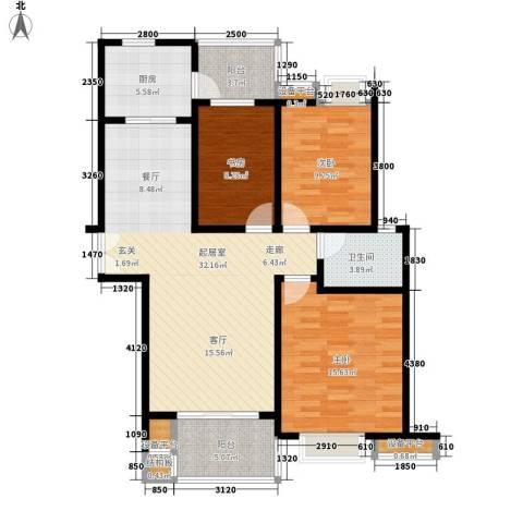 浦口西里3室0厅1卫1厨123.00㎡户型图