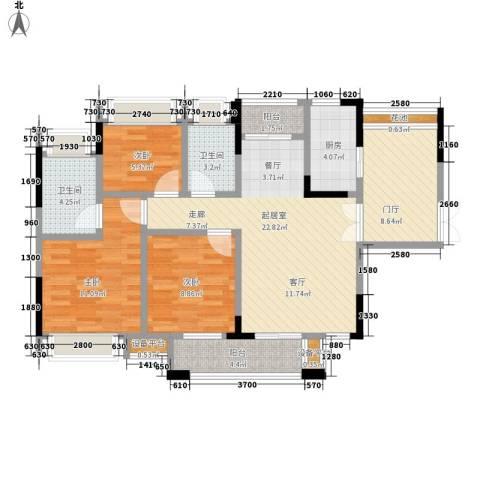 金牛大厦3室0厅2卫1厨164.00㎡户型图
