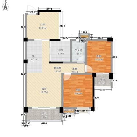 猪屎园2室0厅1卫1厨116.00㎡户型图