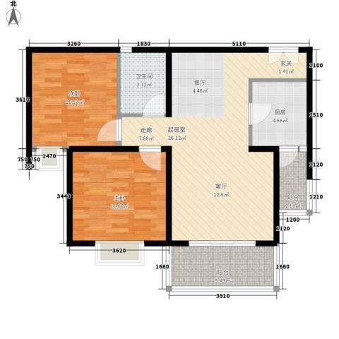 建宇大厦2室0厅1卫1厨133.00㎡户型图