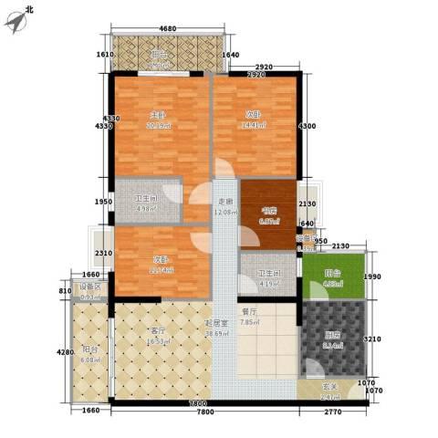 阳光都会广场4室0厅2卫1厨140.00㎡户型图