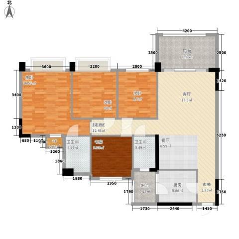 金华花园4室0厅2卫1厨147.00㎡户型图