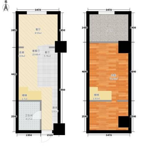 香格里拉城市广场1室1厅1卫0厨85.00㎡户型图