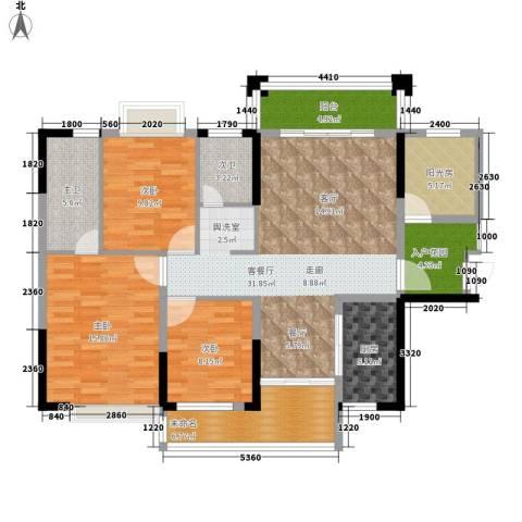 格澜郡3室1厅0卫1厨131.00㎡户型图