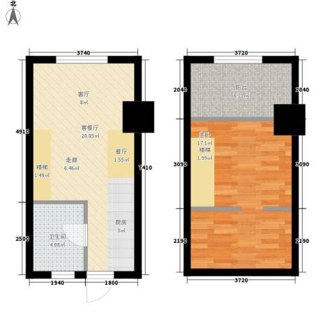 香格里拉城市广场1室1厅1卫0厨69.00㎡户型图
