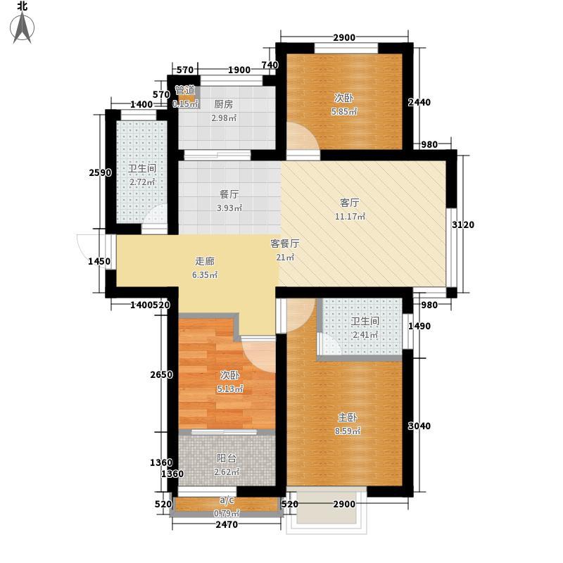 中建锦绣城2#楼K户型3室2厅