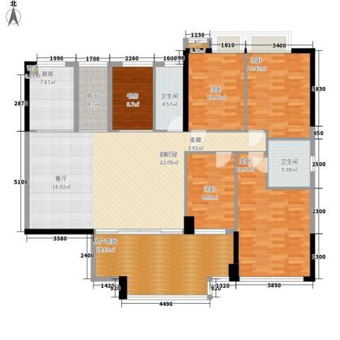 帝�东方5室0厅2卫1厨169.00㎡户型图