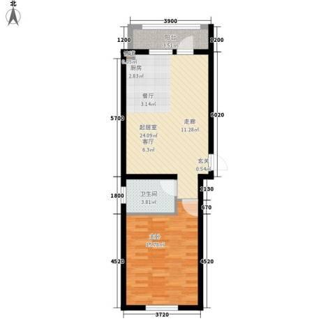 馨合佳园1室0厅1卫0厨55.00㎡户型图
