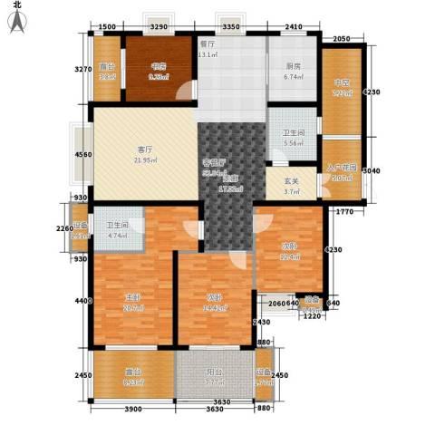 蓝城百合花园4室1厅2卫1厨185.00㎡户型图