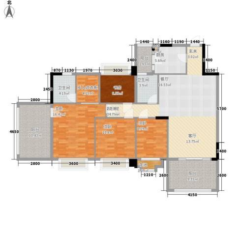 金华花园4室0厅2卫1厨171.00㎡户型图