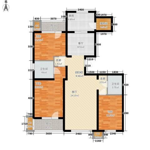 首创红树湾3室0厅2卫1厨140.00㎡户型图