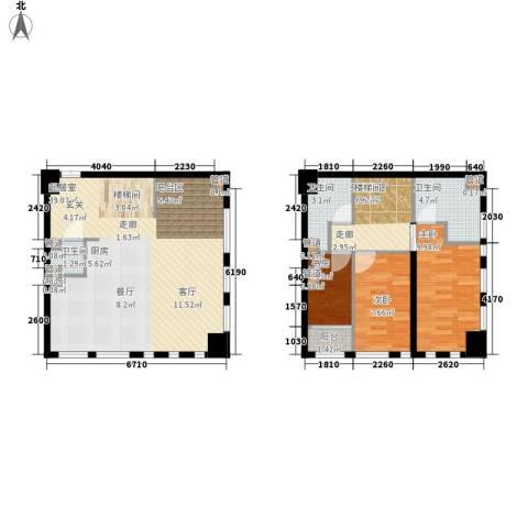 帝景现代城3室0厅3卫0厨91.00㎡户型图