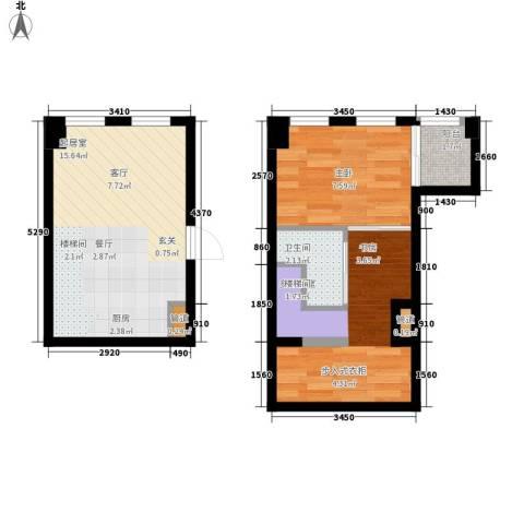 帝景现代城1室0厅1卫0厨45.00㎡户型图