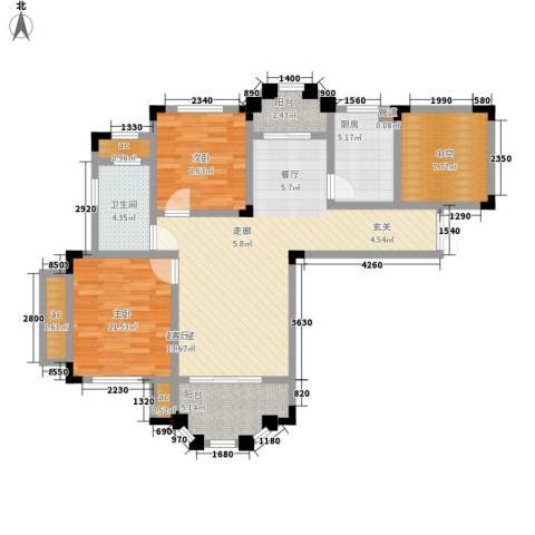 紫金天境2室0厅1卫1厨115.00㎡户型图