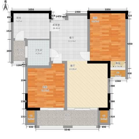 紫金天境2室0厅1卫1厨108.00㎡户型图