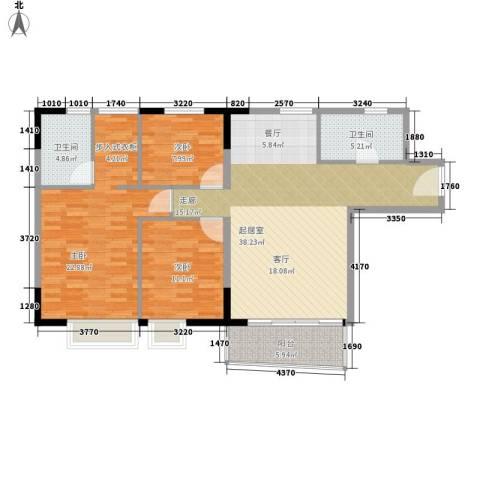 英豪花园3室0厅2卫0厨107.00㎡户型图