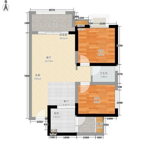 神州南都2室0厅1卫1厨83.00㎡户型图