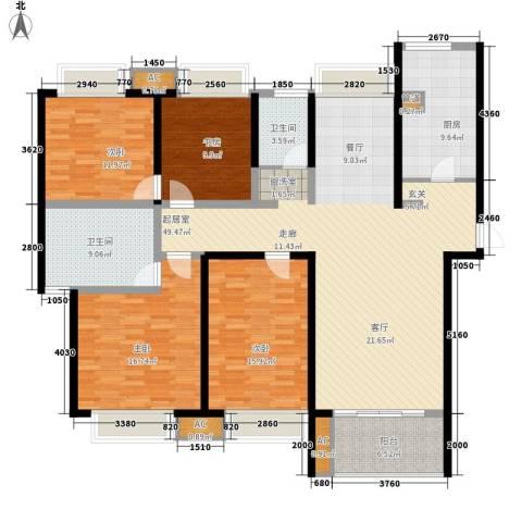 南山湖1号4室0厅2卫1厨155.00㎡户型图