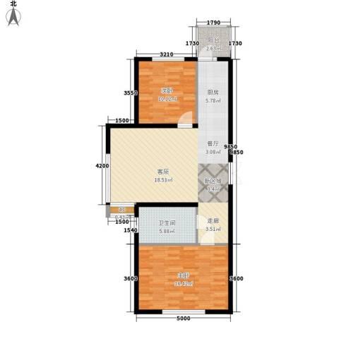 开美国际2室0厅1卫0厨97.00㎡户型图