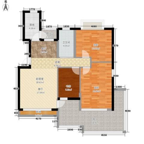 相门新村3室0厅1卫1厨94.16㎡户型图