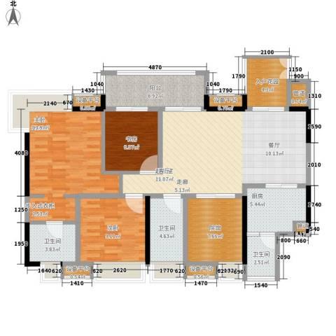 复地新城就3室0厅3卫1厨97.54㎡户型图