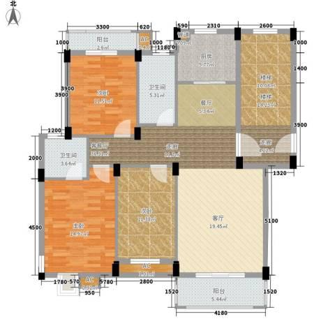 金谷鑫城三期3室1厅2卫1厨112.97㎡户型图