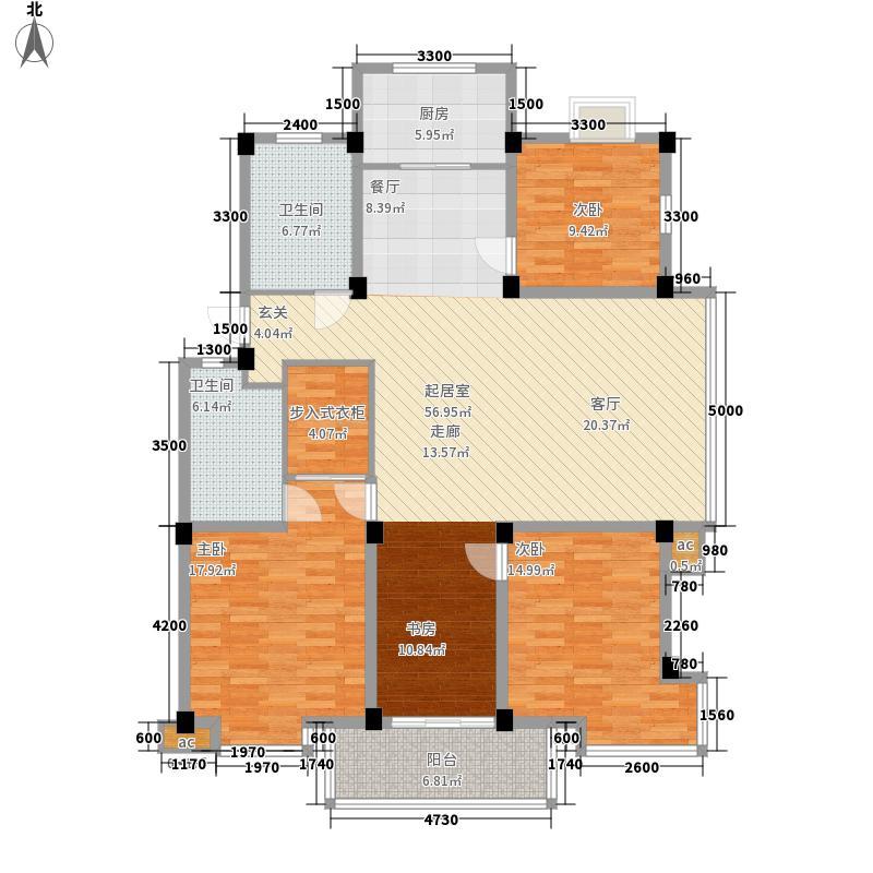 蓝盾时代名邸152.00㎡户型A四室二厅二卫户型