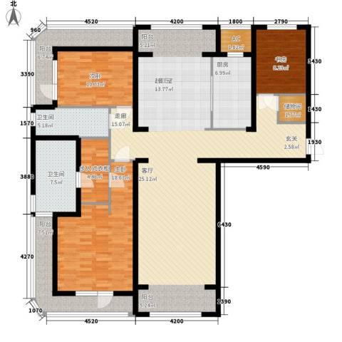 伊泰CEO国际中心3室0厅2卫1厨185.00㎡户型图